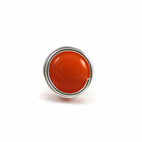 Infinity Glass Ring - Orange