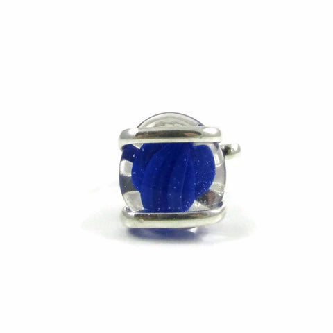 Parallel Ring - Blue Stripe