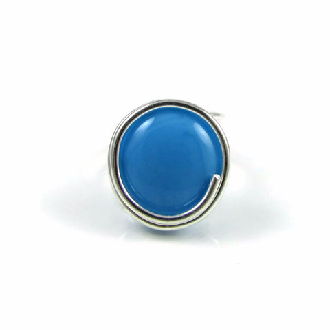 Infinity Glass Ring - Turquoise