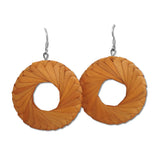 Woven Palm Earrings - Large - Many colors available