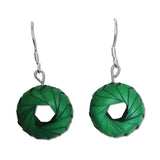Woven Palm Earrings - Small - Many colors available