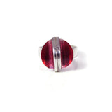 Button Crystal Ring