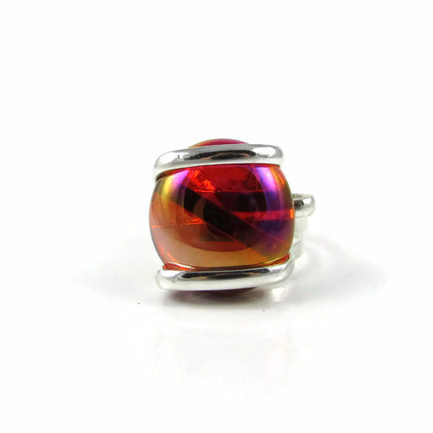 Parallel Ring - Red Crystal Iridescent