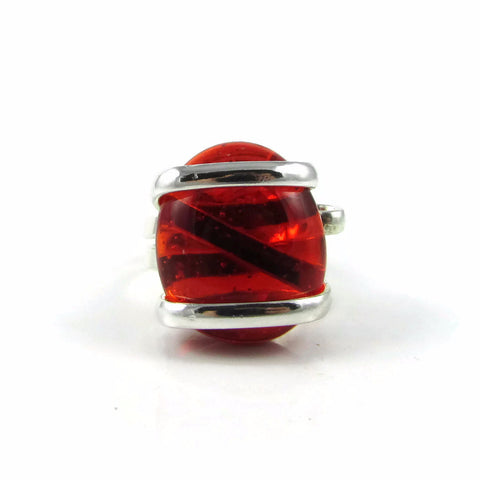 Parallel Ring - Red Crystal