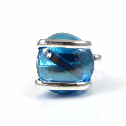 Parallel Ring - Turquoise Crystal Iridescent
