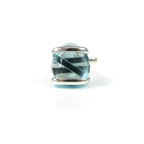 Parallel Ring - Sky Blue Crystal