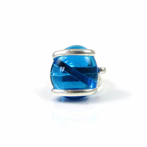 Parallel Ring - Turquoise Crystal