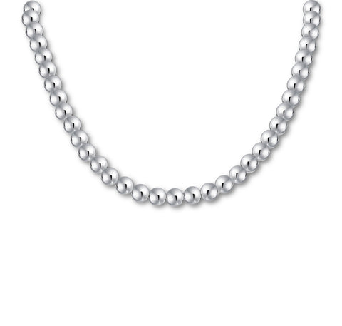 "Classic Ball Beads Necklace (8mm, 15"")"