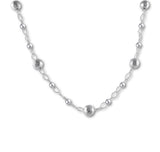 Hammered Balls Long Necklace