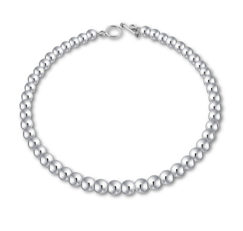 "Classic Ball Beads Necklace (10mm, 17"")"
