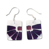 Lama Flower Glass Earrings in Purple