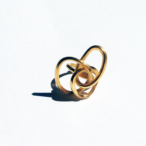 Rope Bronze Ring Front