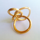 Rope Bronze Ring by Tego adjustable Back