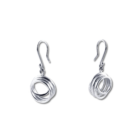 Curly Silver Earrings