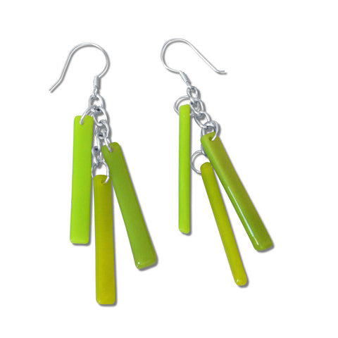 LTRAC Glass Earrings - Lime Green