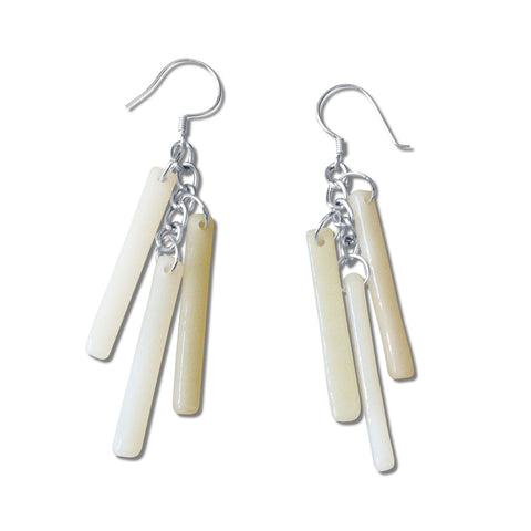 LTRAC Glass Earrings - White