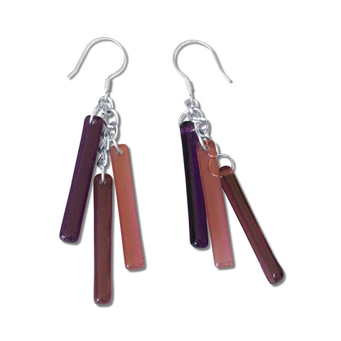 LTRAC Glass Earrings - Purple