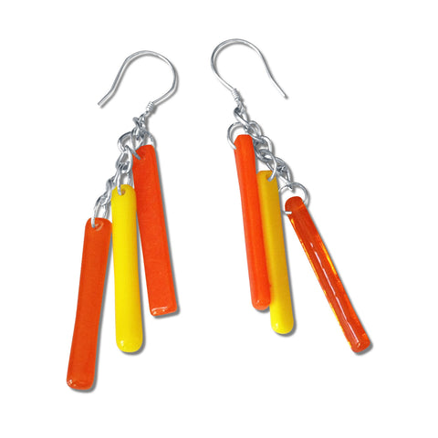 LTRAC Glass Earrings - Orange