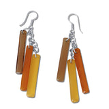 LTRAC Glass Earrings - Amber