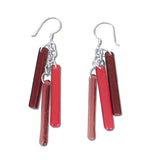 LTRAC Glass Earrings - Red