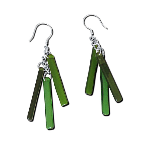 LTRAC Glass Earrings - Green