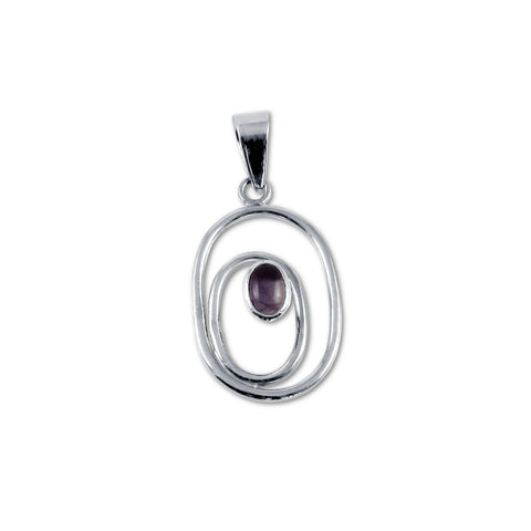 Ovals and Amethyst Pendant