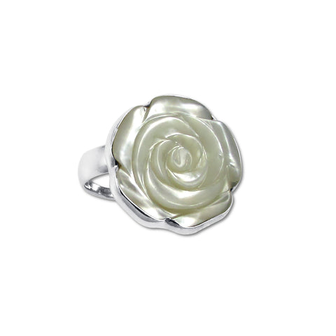MOP Rose Adjustable Ring