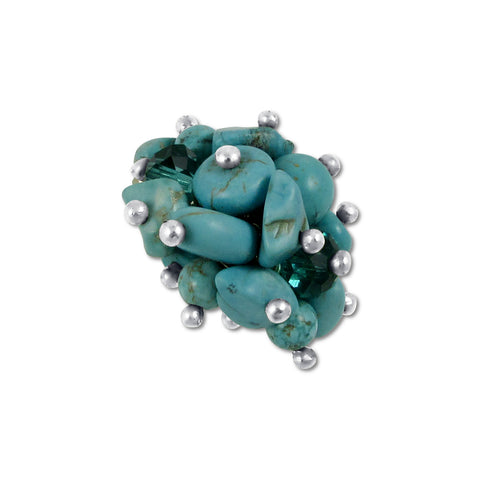 Cluster Ring - Turquoise