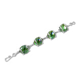 Parallel Bracelet -Green Iridescent