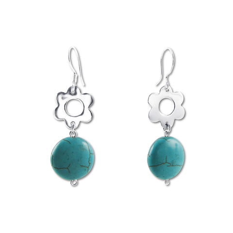 Flora Earrings - Turquoise