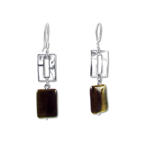 Zora Earrings - Tiger's Eye