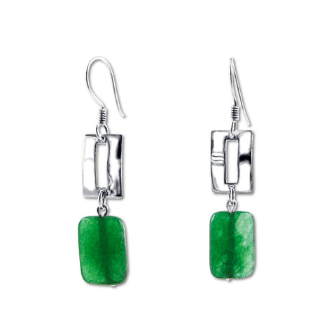 Zora Earrings - Green Onyx