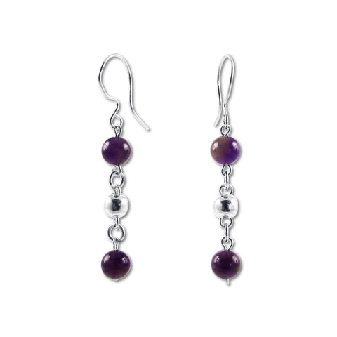 Bolitas Earrings - Amethyst