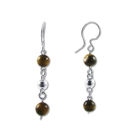 Bolitas Earrings - Tiger's Eye