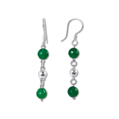 Bolitas Earrings - Green Onyx