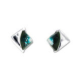 Blown Glass Square Studs