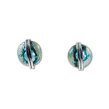 Blown Glass Circle Studs