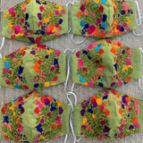 Hand Embroidered Face Masks - Floral