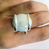 Parallel Glass Ring - White