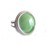 Infinity Glass Ring - Pistachio