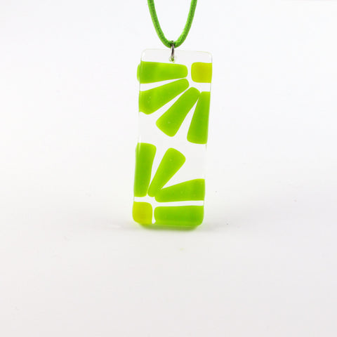LAMA Glass Pendant - Lime Green