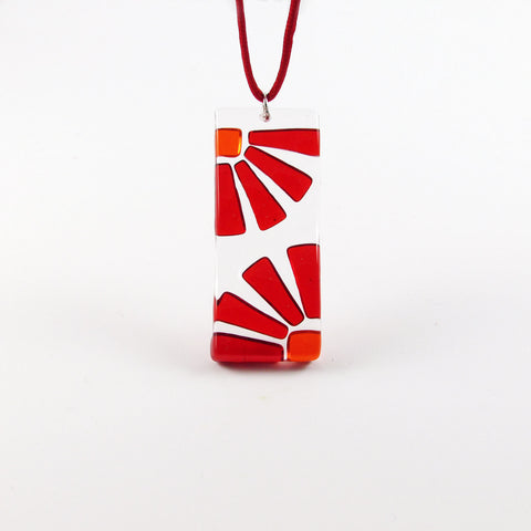 LAMA Glass Pendant - Red