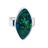 Cocol Blown Glass Ring - Green