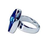 Cocol Blown Glass Ring - Navy