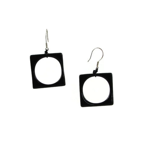 Hoyo Glass Earrings - Black