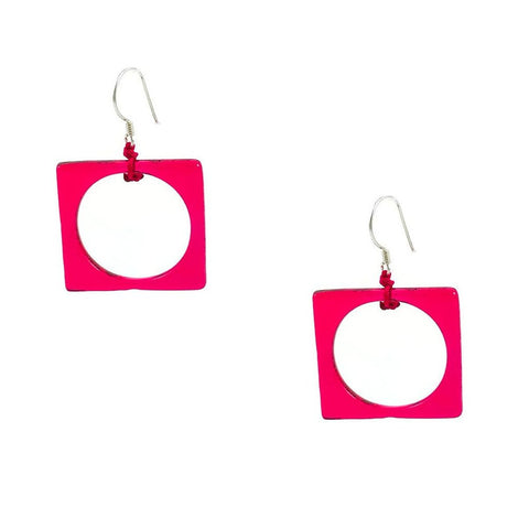 Hoyo Glass Earrings - Cherry