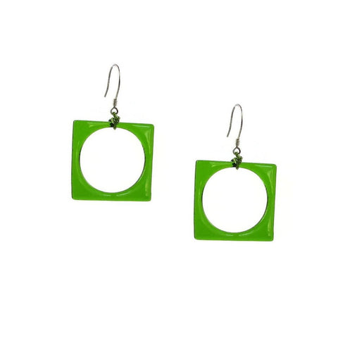 Hoyo Glass Earrings - Green