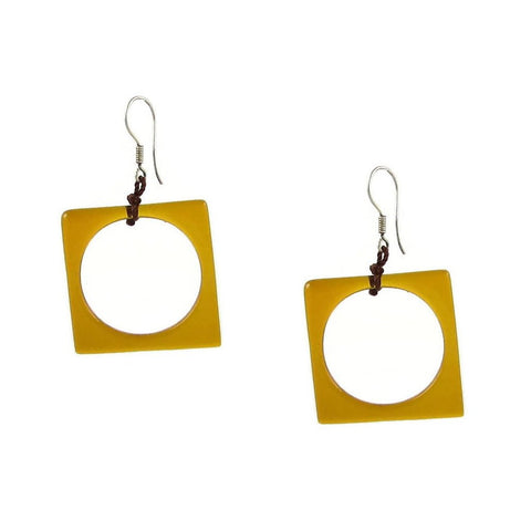 Hoyo Glass Earrings - Amber
