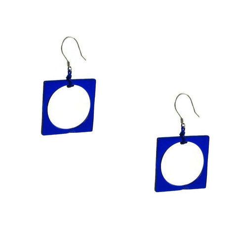 Hoyo Glass Earrings - Navy