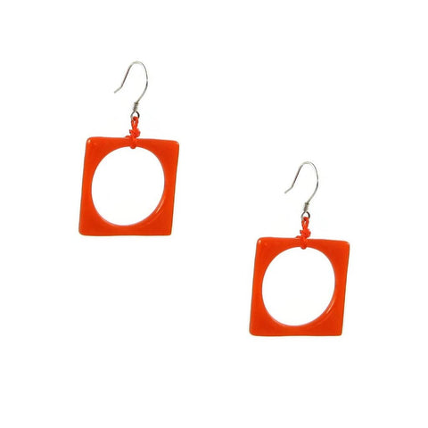 Hoyo Glass Earrings - Orange